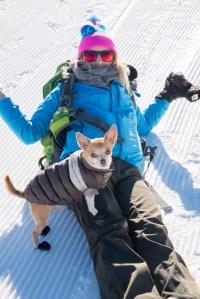 Winterwandertenue für Mensch und Hund