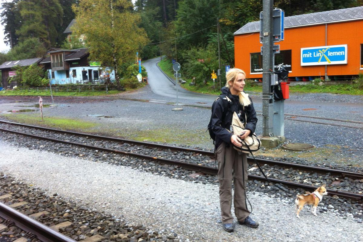 Transporttasche für die Bahnfahrt