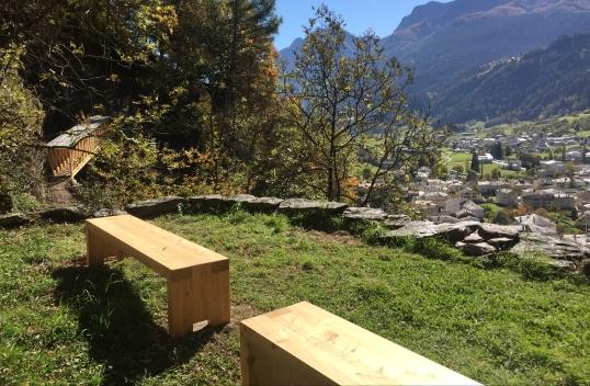 Runchett da Sotsassa: Terrassen über Poschiavo