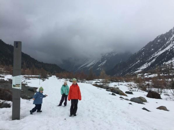 ... Sabis grosser Traum in Pontresina (bei Schnee und Regen - ein richtiges Abenteuer - ...